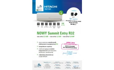 Nowy HITACHI Summit Entry R32 – super oferta!