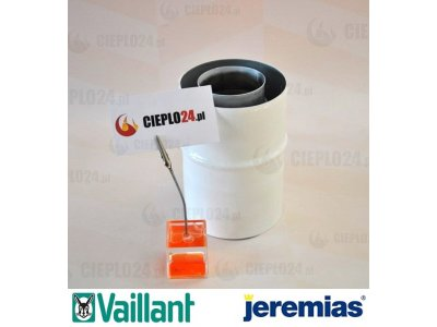 Jeremias adapter Vaillant 60/100 na 60/100, złączka do kotła, TWIN1821001060100